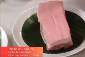 Chỉ cần bột chiên gà, mẹ vụng và bận nhất cũng có thể chế biến món thịt ba chỉ chiên cực thơm giòn