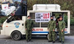 Cảnh sát Philippines đặt quan tài giữa phố, cảnh báo dân 'ở nhà hoặc trong quan tài'