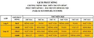 Hà Nội phát sóng chương trình học trên truyền hình ở cả 3 cấp học