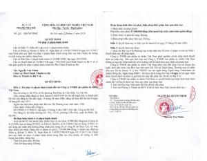 Xử phạt Công ty Sản phẩm tự nhiên Việt Nam liên quan đến 2 sản phẩm TPBVSK
