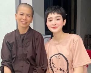 Rời xa trốn thị phi showbiz, Hiền Hồ thành tâm đi theo đạo Phật