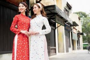 Chị Em Collection tung 2 mẫu áo dài in 3D hoa lan đón hè