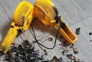 Quạt mini giá rẻ và nguy cơ cháy nổ