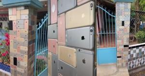 Ốp tường rào bằng iPhone, căn nhà ở Việt Nam bỗng nhiên nổi tiếng trên mạng