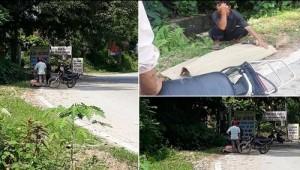 Sự thật bất ngờ thông tin cụ ông 80 tuổi t.ử v.ong do taxi bỏ dọc đường, con trai phải buộc th.i th.ể lên xe máy đưa về nhà