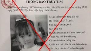 Thực hư thông tin bé gái 3 tuổi bị bắt cóc ở Bình Dương gây xôn xao mạng xã hội