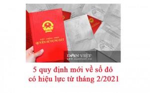 5 quy định mới về sổ đỏ có hiệu lực từ tháng 2/2021