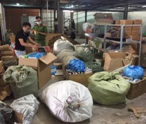 Hàng nghìn sản phẩm đồ gia dụng lậu gắn mác Trung Quốc bị bắt giữ