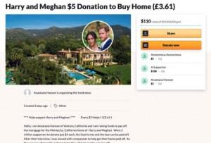 Chuyện thật như đùa: Dân Mỹ rủ nhau quyên góp giúp vợ chồng Meghan mua nhà sau màn than khổ bị cắt tài chính, Harry có thực sự