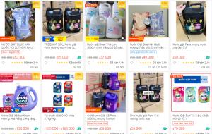 Cảnh giác với nước giặt giá siêu rẻ bán tràn lan trên mạng