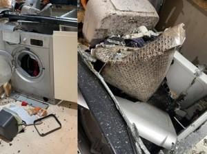 Máy giặt phát nổ như bom và vỡ vụn trong bếp, những sai lầm hay mắc cần tránh