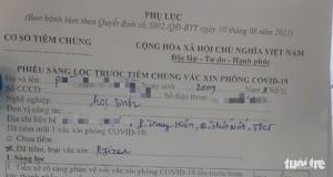 57 trẻ dưới 18 tuổi được tiêm vắc xin ngừa COVID-19 ở Cần Thơ, nhỏ nhất 12 tuổi?