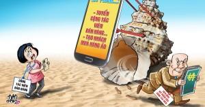 Cảnh báo tình trạng lừa đảo bằng cách tuyển người bán hàng online