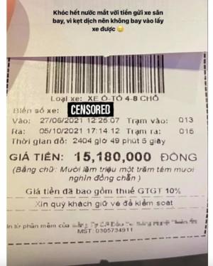 Nữ diễn viên nói gì sau khi trả 15 triệu để gửi xe ở sân bay Tân Sơn nhất gây xôn xao?