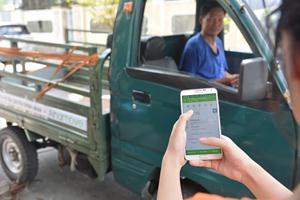 Xe ba gác Uber ở Sài Gòn