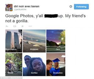 Google xin lỗi vì nhầm lẫn người da đen là khỉ đột