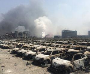 Hơn 8000 xe hơi bị phá huỷ trong vụ nổ tại Thiên Tân là của hãng nào?