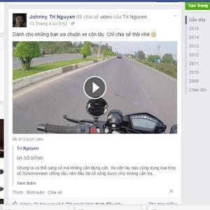 Johnny Trí Nguyễn hướng dẫn kỹ thuật đá số sống khi chạy mô tô