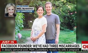 Người sáng lập Facebook xúc động nói về việc vợ sẩy thai