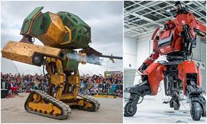 Robot khổng lồ MegaBots Mark 2 của Mỹ thách đấu robot Kuratas của Nhật