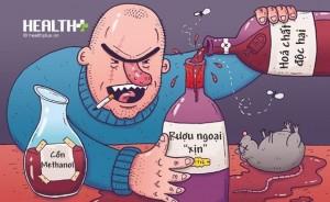 Uống rượu ngoại chưa kịp... oai đã lo ngộ độc