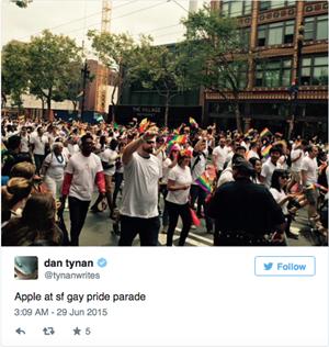 Tim Cook dẫn đầu 8.000 nhân viên Apple tham gia diễu hành ủng hộ cộng đồng LGBT