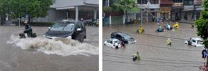 Xử lý tình huống an toàn khi lái xe gặp mưa lũ