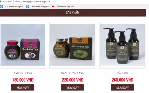 Sản phẩm Đông y Dung Hà bị thu hồi được rao bán với tên gọi khác?