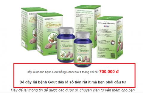 Thực phẩm Nanocare quảng cáo như 'thần dược'