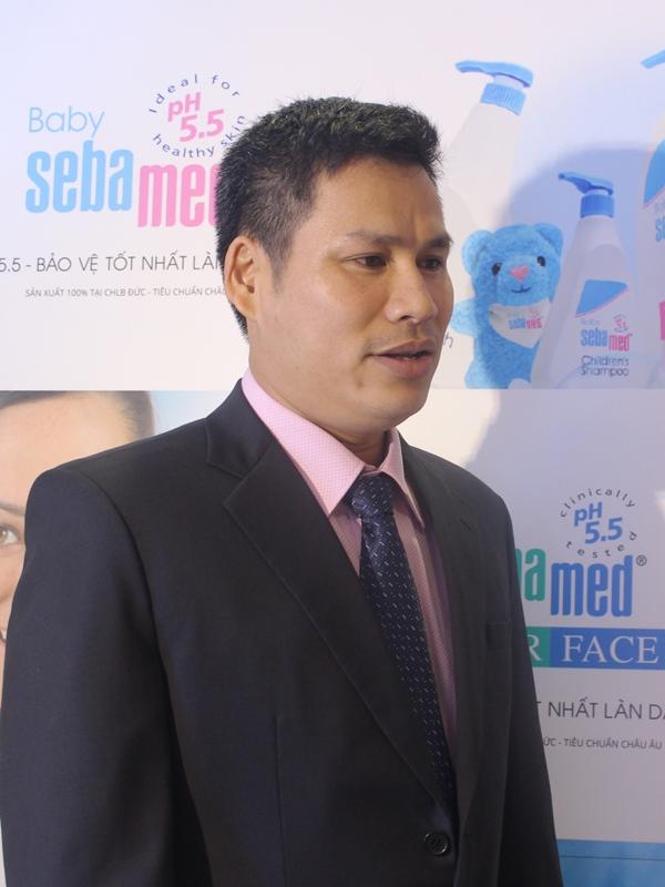 Ông Từ Thanh Phong – Giám đốc Công ty TNHH Xuất nhập khẩu Kỳ Phong, đơn vị phân phối độc quyền Sebamed tại Việt Nam.