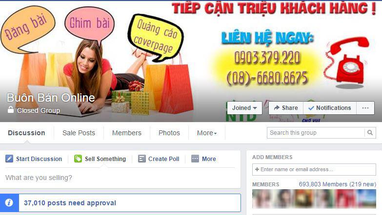 Làm giàu với vốn ít nhờ bán hàng online qua Facebook Group
