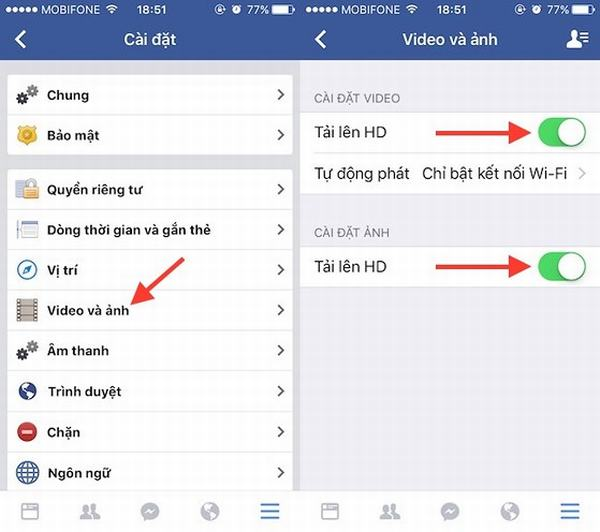 Cách tải ảnh và video chất lượng cao lên Facebook