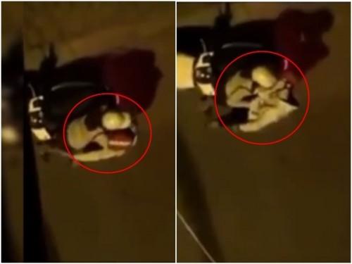 Chồng đau đớn bắt quả tang vợ ôm hôn, sờ mó nhân tình ngay trước sân nhà - Ảnh cắt từ clip