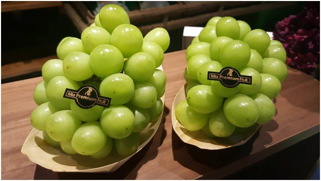 Loại nho xanh này hiện có giá bán lên tới 1,4 triệu đồng/kg