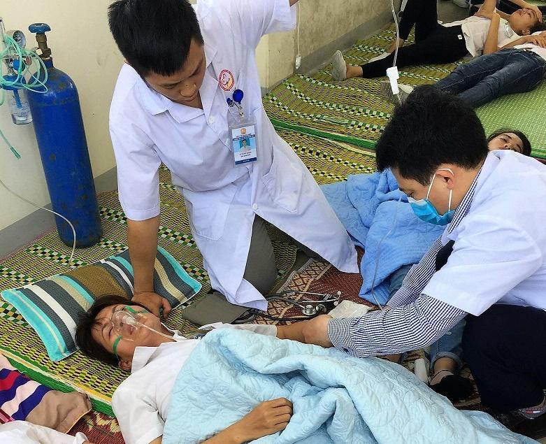 Vụ công nhân nhà máy Yazaki bị ngộ độc khí: Nạn nhân lúc tỉnh, lúc lên cơn co giật