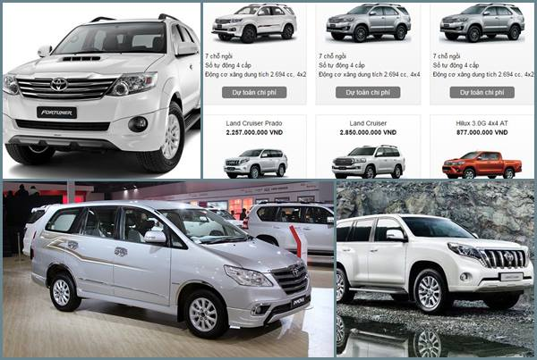 Bảng giá xe ô tô Toyota mới nhất tháng 7 âm lịch
