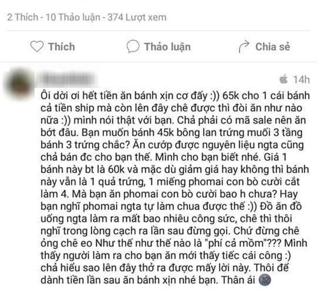 Cô gái bị MXH ném đá tơi bời vì bỏ 65 nghìn mua online bánh bông lan trứng muối rồi chê: Tanh tanh lờ lợ, ăn phí mồm!