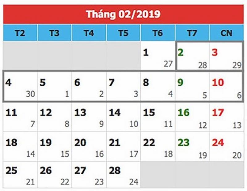 Tết nguyên đán 2019, người lao động được nghỉ 9 ngày, học sinh được nghỉ hơn nửa tháng