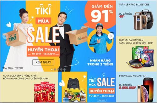 Chợ mạng đồng loạt giảm giá ngày 11-11 - Ảnh 2.